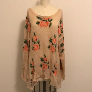 Wild fox rose sweater
